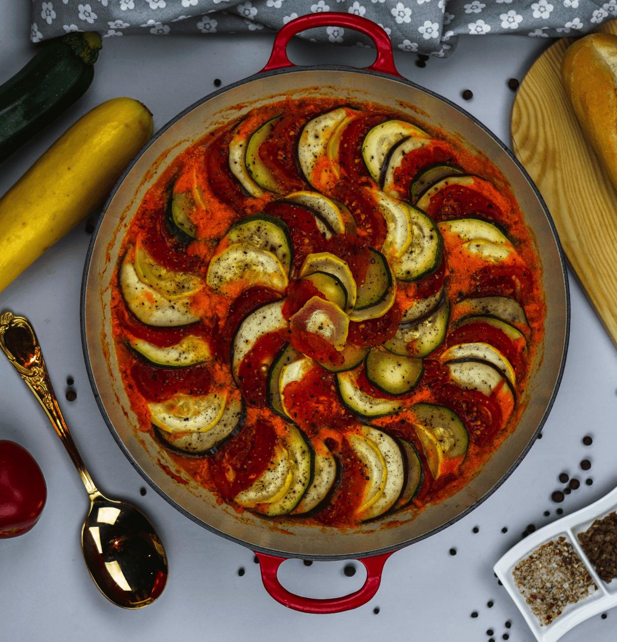 Ratatouille mit Rezept aus dem Film von Chef Remi