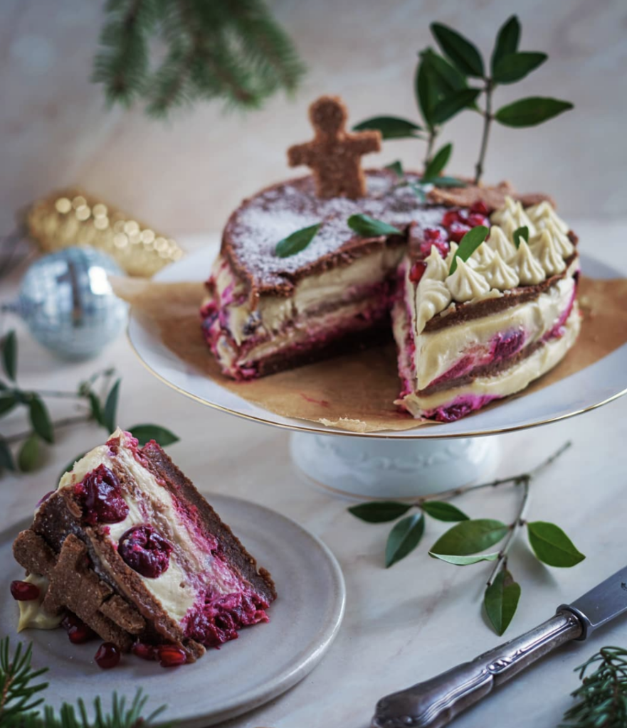 Winterlichte Rohkost Torte