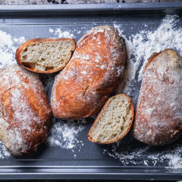 Ciabatta Brot ohne Milch und vegan