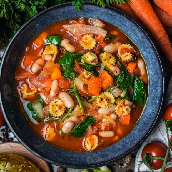 Toskanische Gemüsesuppe - mit Fenchel und Bohnen